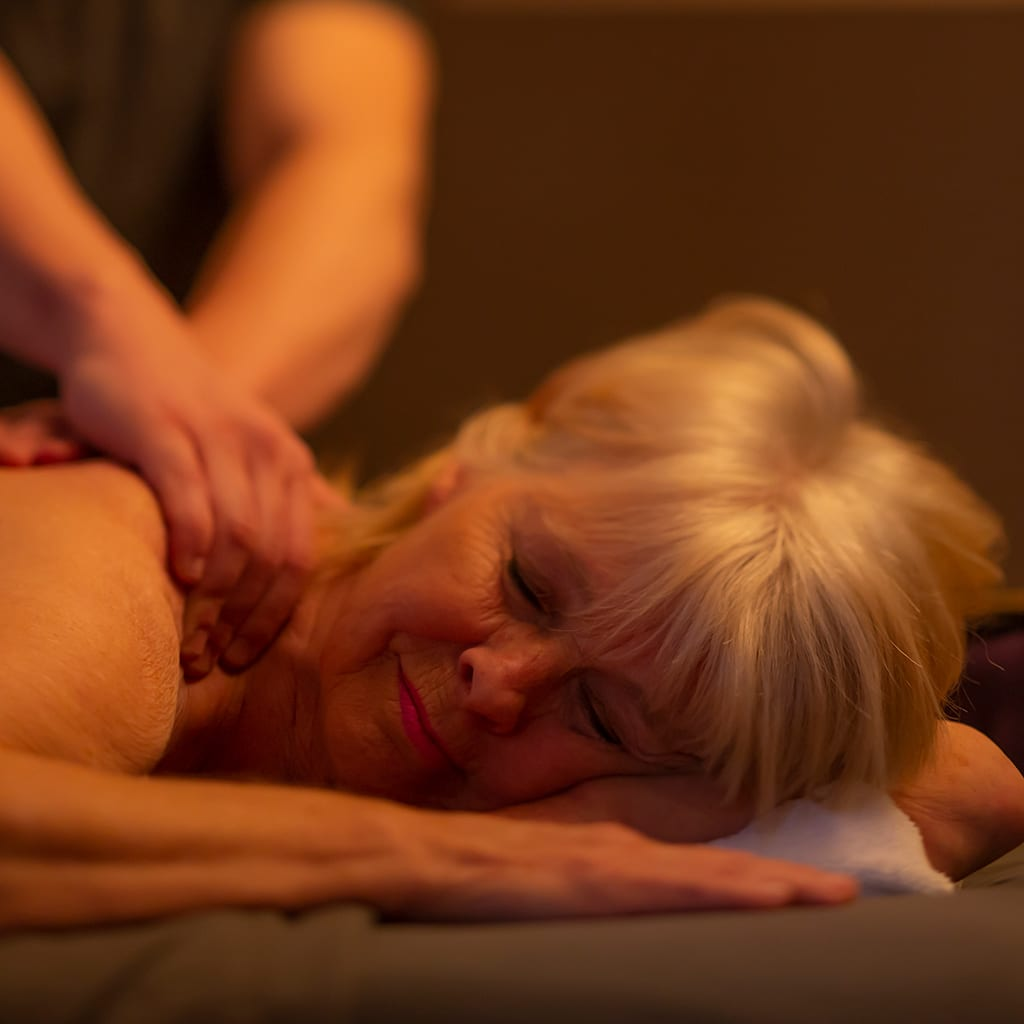 woman receiving massage in the detox package at Steamboat Springs near Reno, Nevada