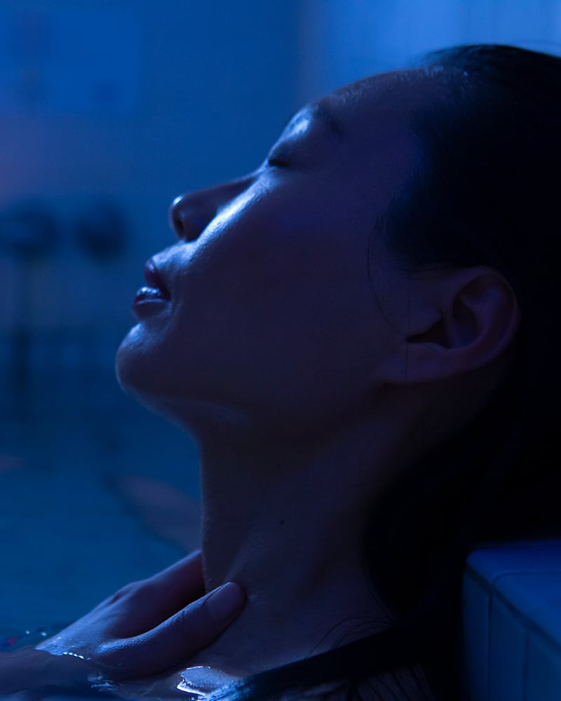 woman in spa at Steamboat Springs
