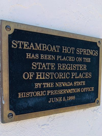 plaque on steamboat facility building