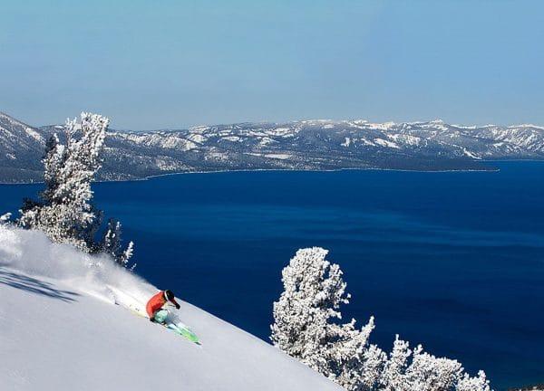 skiing at Lake Tahoe